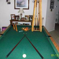 Pool Table and Bar Stools