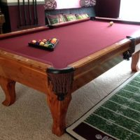 8ft. Custom Cedar Pool Table